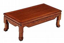 A huali kang table of rectangular form, the top