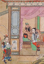 Two Chinese paintings from the Romance of the