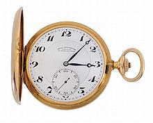 Paul Ditisheim, an 18 carat gold hunting case keyless pocket watch, no