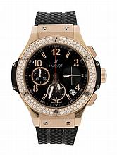 Hublot, Big Bang, Ref. 341, a bi-colour and diamond automatic chronograph...