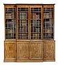 A Regency mahogany library breakfront bookcase,