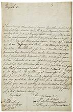 Letter signed to the Earl of Buchan,1p., folio, St