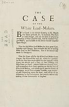The Case of the White Lead-Makers, printed sheet, 1p