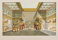 Nineveh and its Remains, vol.1 only , chromolithographed title and 101 plates
