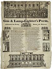 The Gas & Lamp-Lighter's Poem, 6 woodcuts, folds, a few ink stains