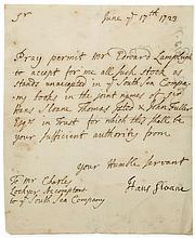Letter signed to Charles Lockyer, 1p., 8vo, n.p