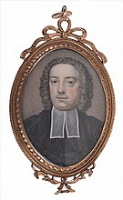 A portrait miniature of a clergyman, in the style