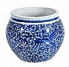 A Chinese blue and white bowl decorated with a