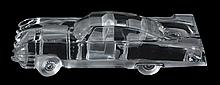 Eldorado, a Cristal Daum clear and frosted glass model of a car , engraved mark