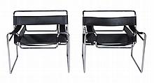 After Marcel Breuer, a pair of Wassily chairs