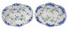 A pair of James Macintyre & Company shaped oval dessert dishes