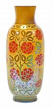 A Pilkington's Royal Lancastrian slender lustre vase, decorated by William S