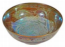 A Pilkington's Royal Lancastrian lustre bowl, decorated by Richard Joyce