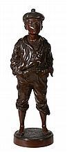 Vaclaw Bernard Szczeblewski, a bronze model of a whistling street urchin