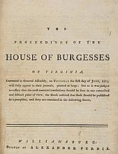 Gunpowder Incident.- Proceedings of the House of Burgesses of Virginia