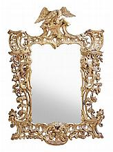 A carved giltwood framed wall mirror in George III