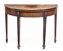 A George III mahogany and crossbanded tea table,