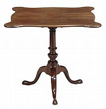 A George III mahogany tripod table, circa 1780,