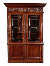 A mahogany bookcase, circa 1860 and later, the