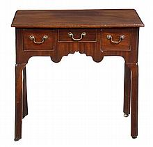 A George III mahogany side table, circa 1760, the