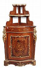 A kingwood, marquetry and gilt metal mounted