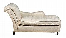 An upholstered chaise in Victorian style, of
