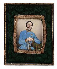 Continental School, circa 1840 Portrait of an Austrian army officer seated...
