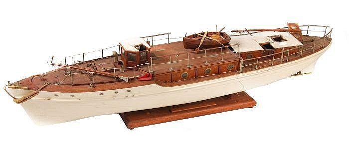 A well built model of a motor yacht, circa 1930,