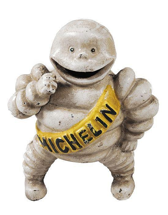 [Michelin]. A cast-iron model of 'Bibendum', the