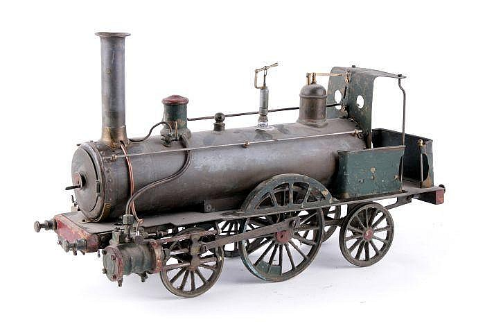 A rare 4 inch gauge live steam model 2-2-2