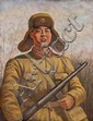 Chen Sheng Lei Feng, oil painting, signed by