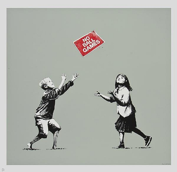 ARR Banksy (British, b.1975), No Ball Games,