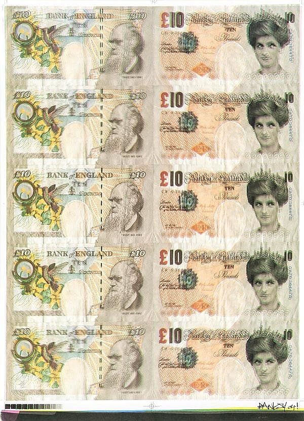ARR Banksy (British, b.1975), Di-Faced Tenners,