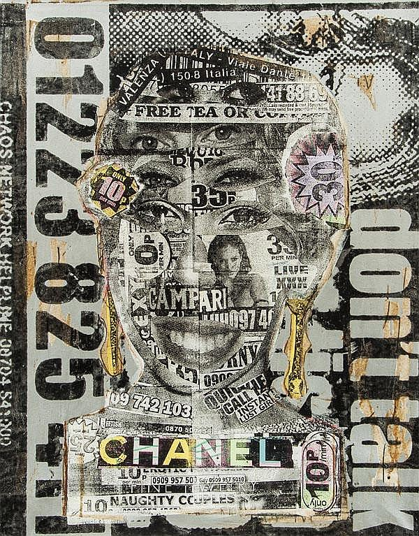 Bast (American), Chanel Girl, 2008, Collage and