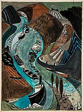 Lill Tschudi (1911-2004) - Steamer and Tag Boats