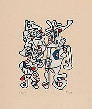Jean Dubuffet (1901-1985) - Wedding Parade (w.1099)