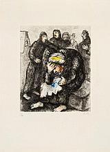Marc Chagall (1887-1985) - Jacob Weeping for Joseph (from La Bible)(c.30)