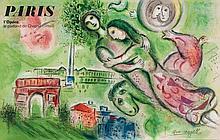 Marc Chagall (1887-1985)(after) - Paris l'Opéra (c.s.10)
