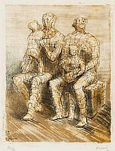 Henry Moore (1898-1986) - Family Group (c.12)
