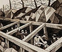 Christopher Richard Wynne Nevinson (1889-1946) - La Guerre Des Trous