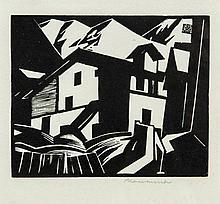 Leonard Beaumont (1891-1986) - Swiss Mountain Village