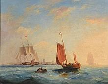 Circle of Frederick Calvert (1793-1852) - Sailing ships off the English coast