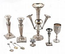 A silver epergne, Chester early 20th century, mark's rubbed