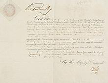 Royal letter of appointment, printed and in autograph