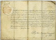 Royal document on vellum, signed