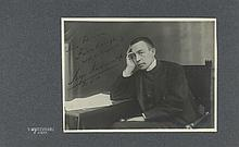 Collection of signed photographs, postcards and ephemera of Russian and East...