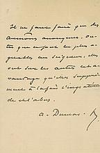 Autograph letter signed in French, advising his recipient to make only...