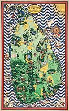 GILL, MacDonald (Max)  (1884-1947) - MAP of CEYLON