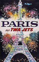 KLEIN David (1918-2005) - PARIS fly TWA JETS