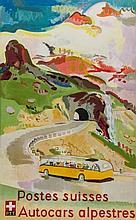 HEGETSCHWEILER, Max - POSTES SUISSES, Autocars alpestres